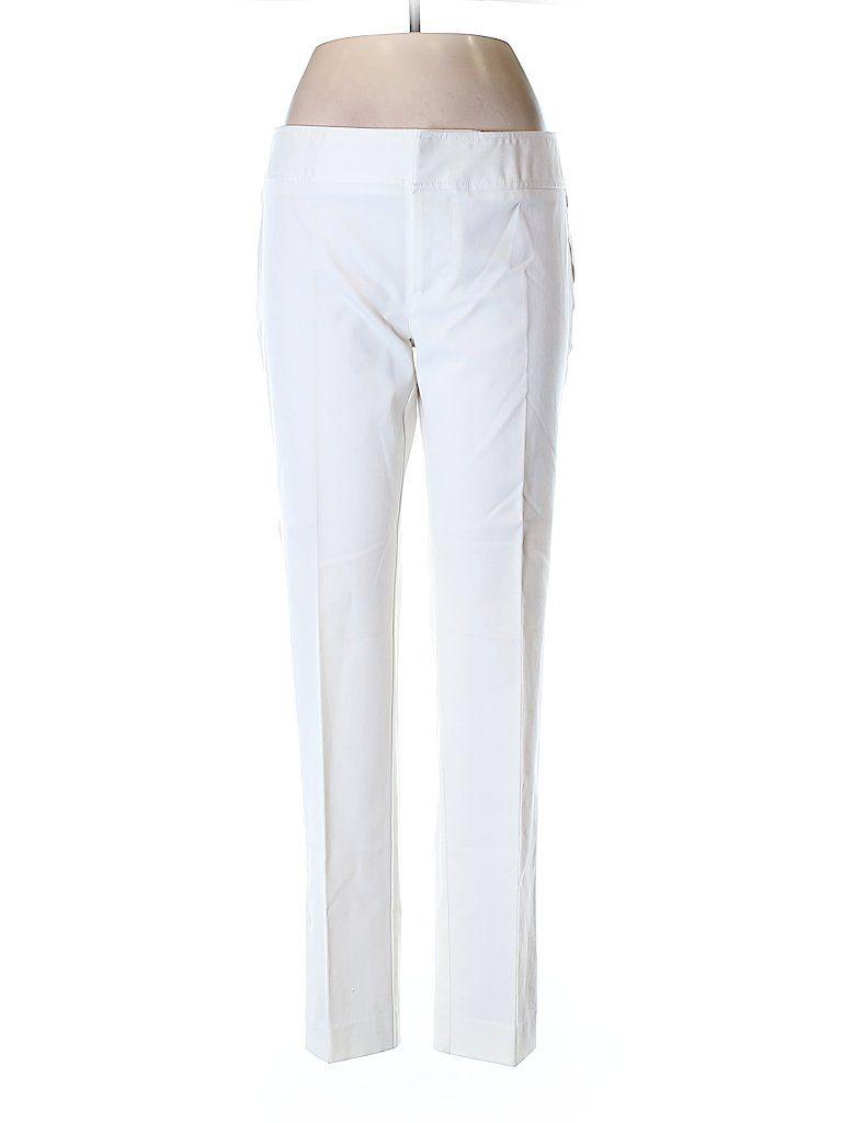 Ecru solid white dress pants size 8 79 off white