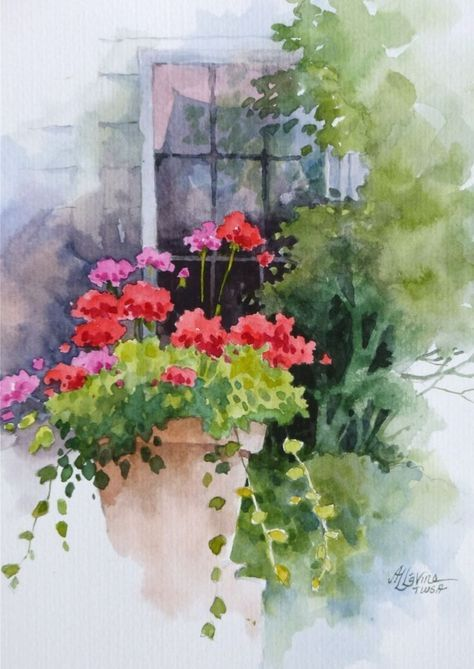 80 easy watercolor painting ideas for beginners easy for Watercolor scenes beginners