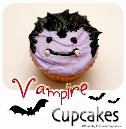 Vampire Cupcakes SO CUTE! halloween Pinterest