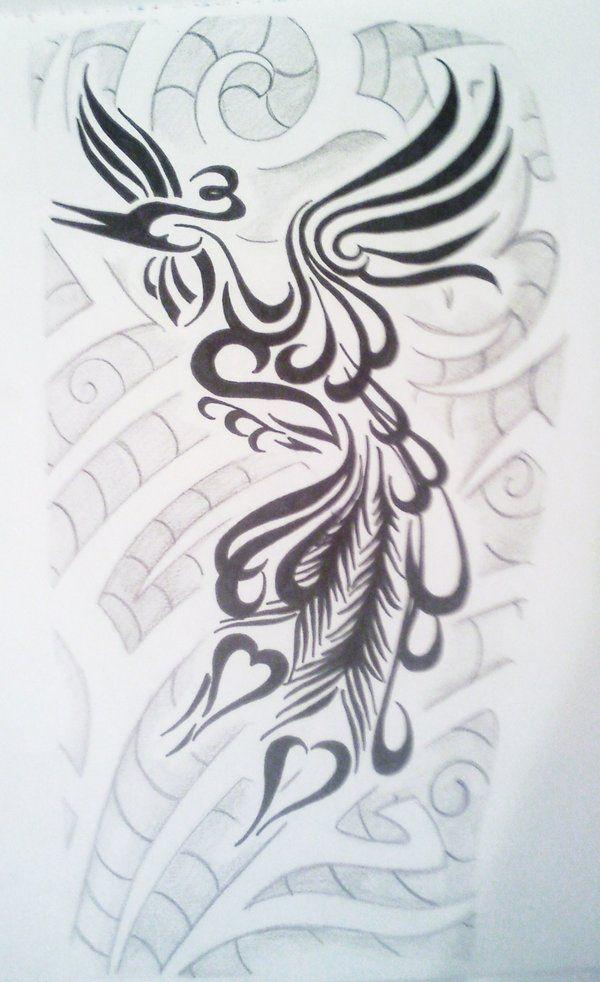 Tribal Peacock By Phantomphreaq On Deviantart Peacock Tattoo Tattoos Tribal Artwork