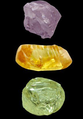 Pink, Orange and Green Rough Diamonds  London Commodity Markets deliver first class alternative investments advice and specialise coloured diamonds investments. Visit us today http://londoncommoditymarkets.com
