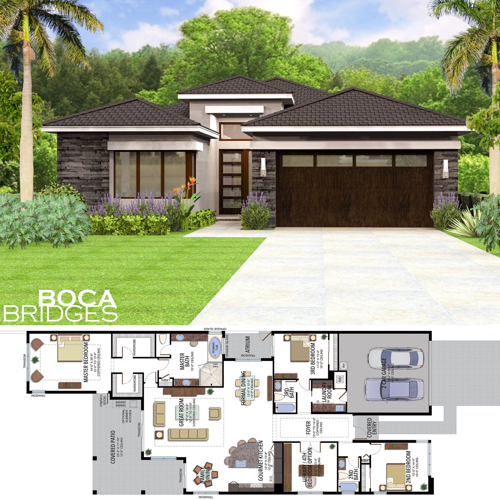 Now Available New Contemporary Home Designs At Bocabridges From The 800 S Follow The Link Ou Modern Bungalow House Beautiful House Plans House Plan Gallery