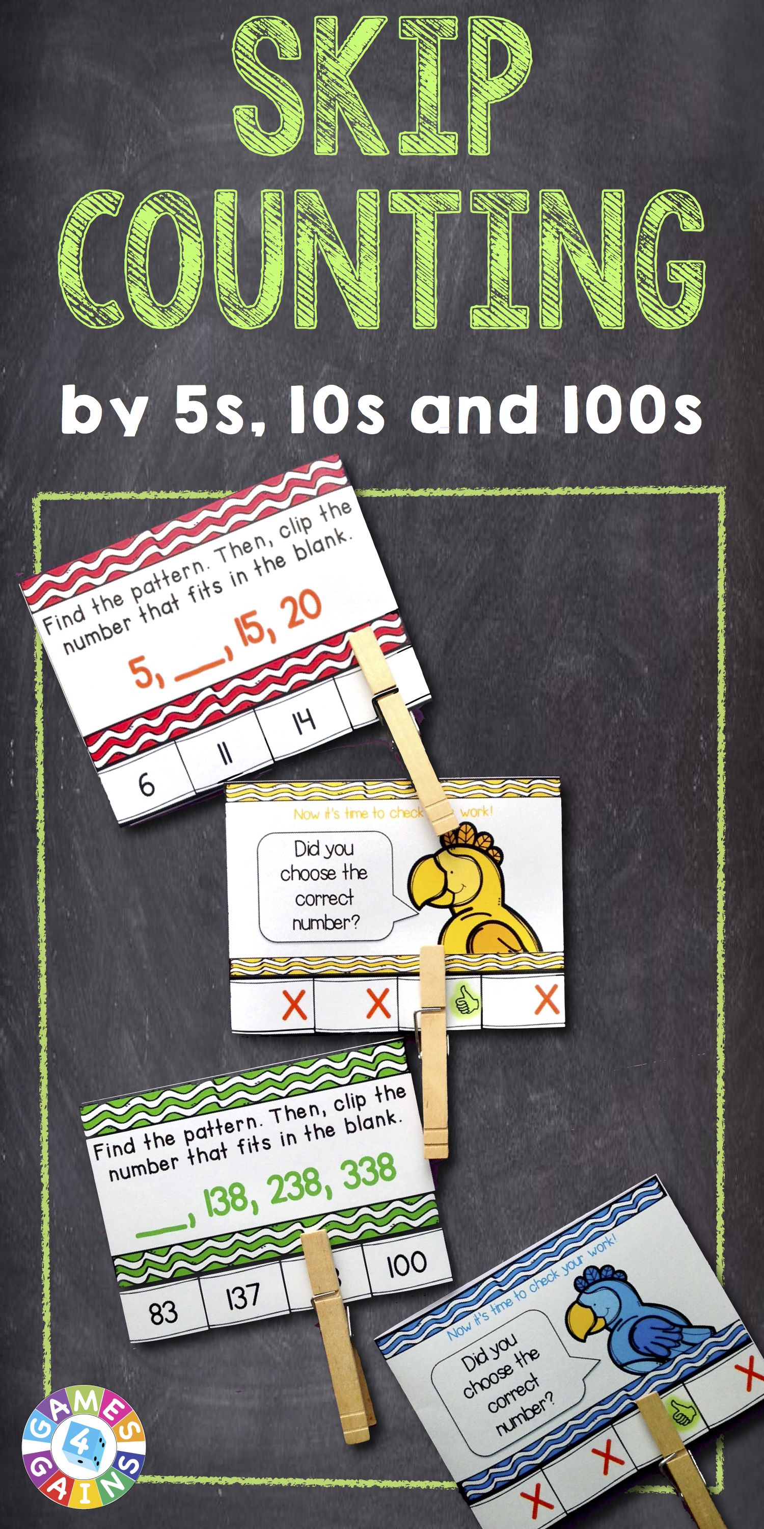 2nd Grade Skip Counting Skip Count By 5s 10s And 100s