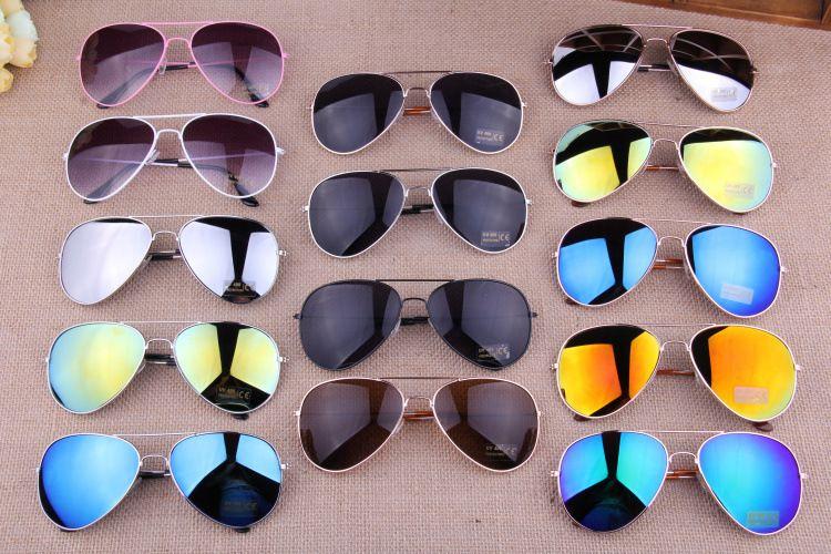 297622ff42 2014 Hot Fashion The Sun Glasses 16 Colors Lens Gold Silver Frame Classic Mirrored  Aviator Men Sunglasses Women 3026