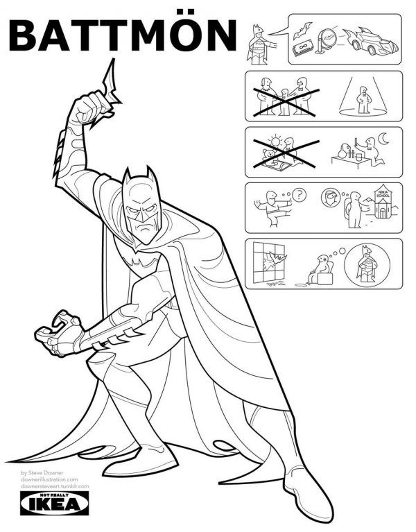 If Ikea Did Superheroes Origins As Instruction Manuels