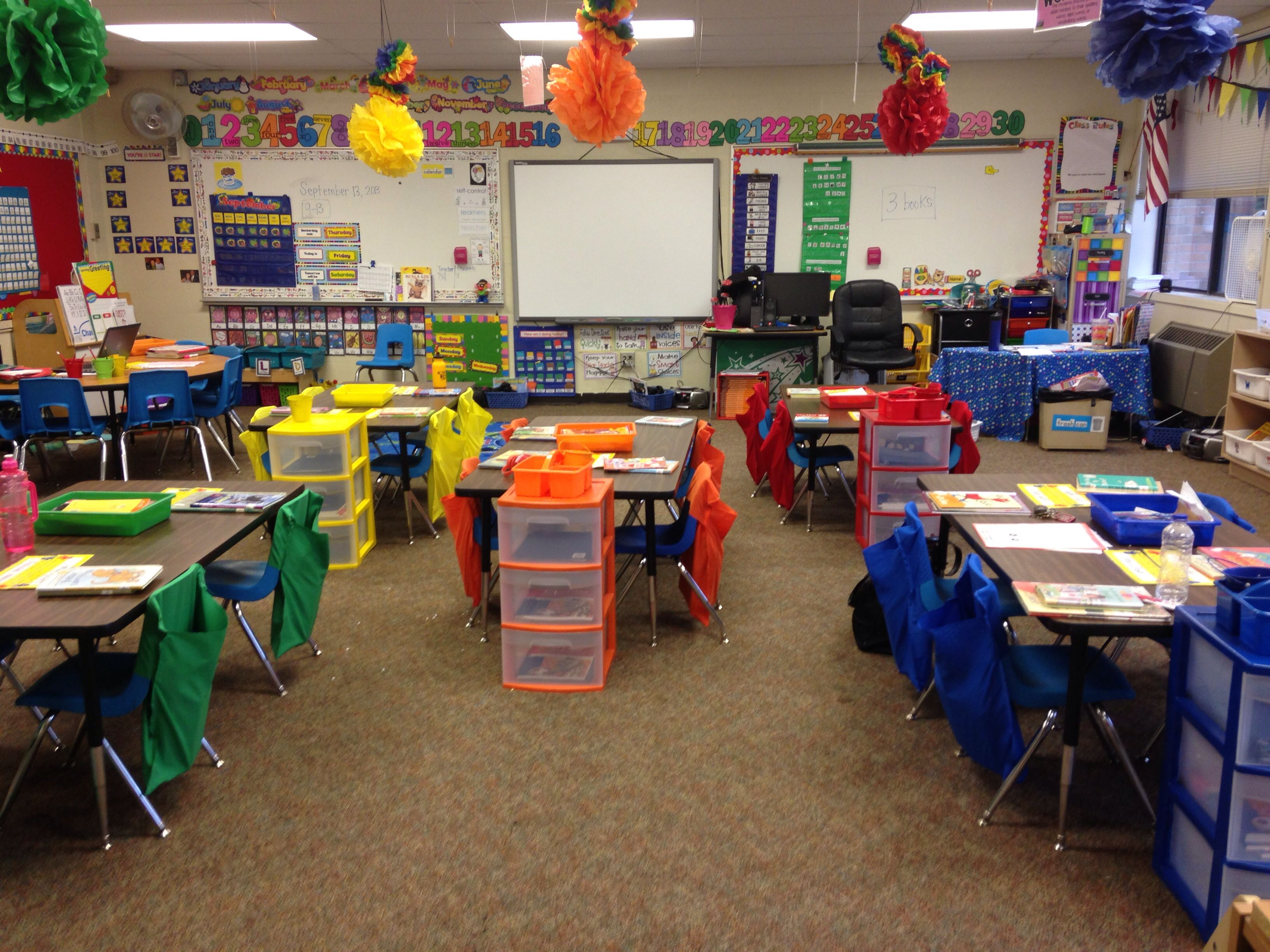 Unusual Classroom Decor : Chair pockets fun colorful carpeted middle school