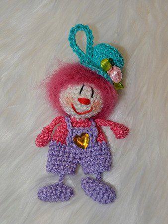 Schlüsselanhänger Clown Harlekin verschiedene Varianten zu Fasching Karneval