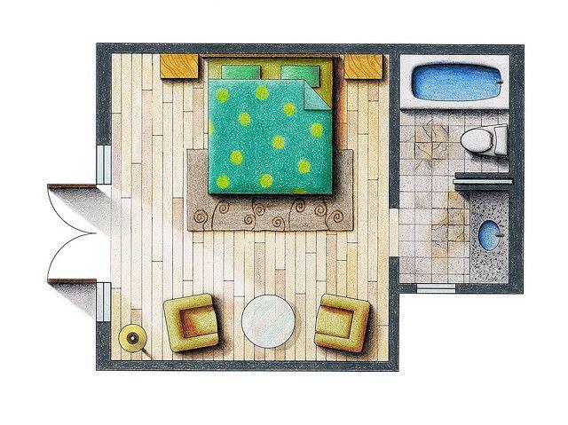 Floor Plan Rendering Interior Design Sketches Interior Design