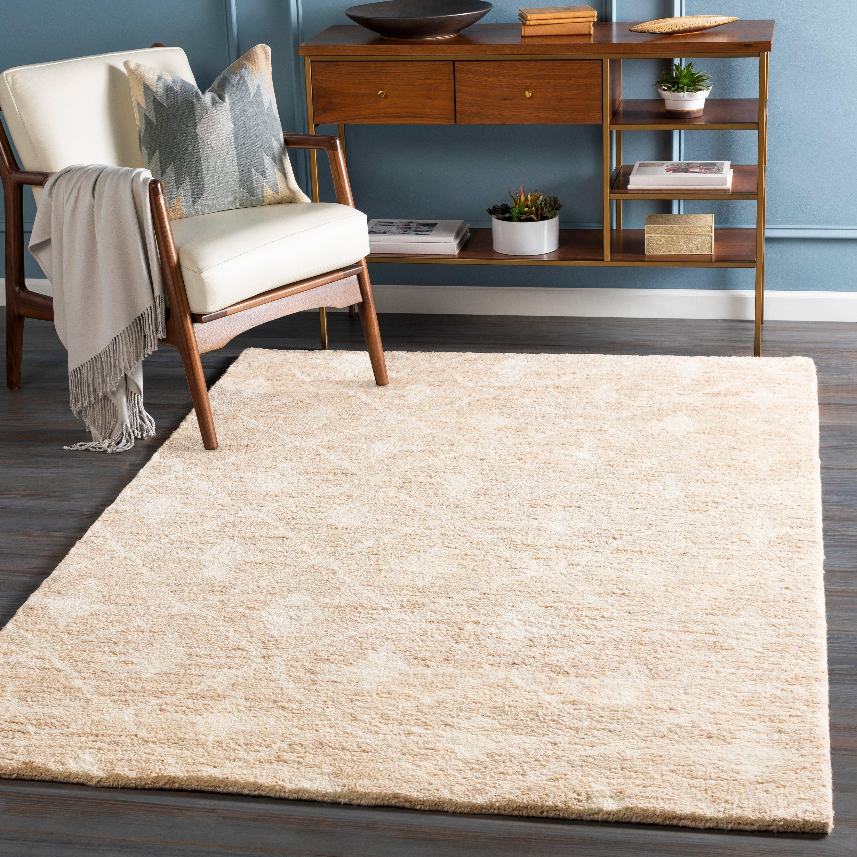 Jessenia Handmade Wool Boho Trellis Area Rug (5' x 7'6