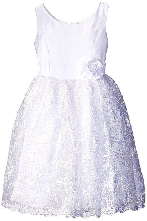 295d591ef48 KLEINFELD Girls 6 Tara White Shantung Soutache Communion Wedding Dress  150  NWT  Dress  WeddingBallFirstCommunionFlowerGirlHolyCommunionQuinceaera