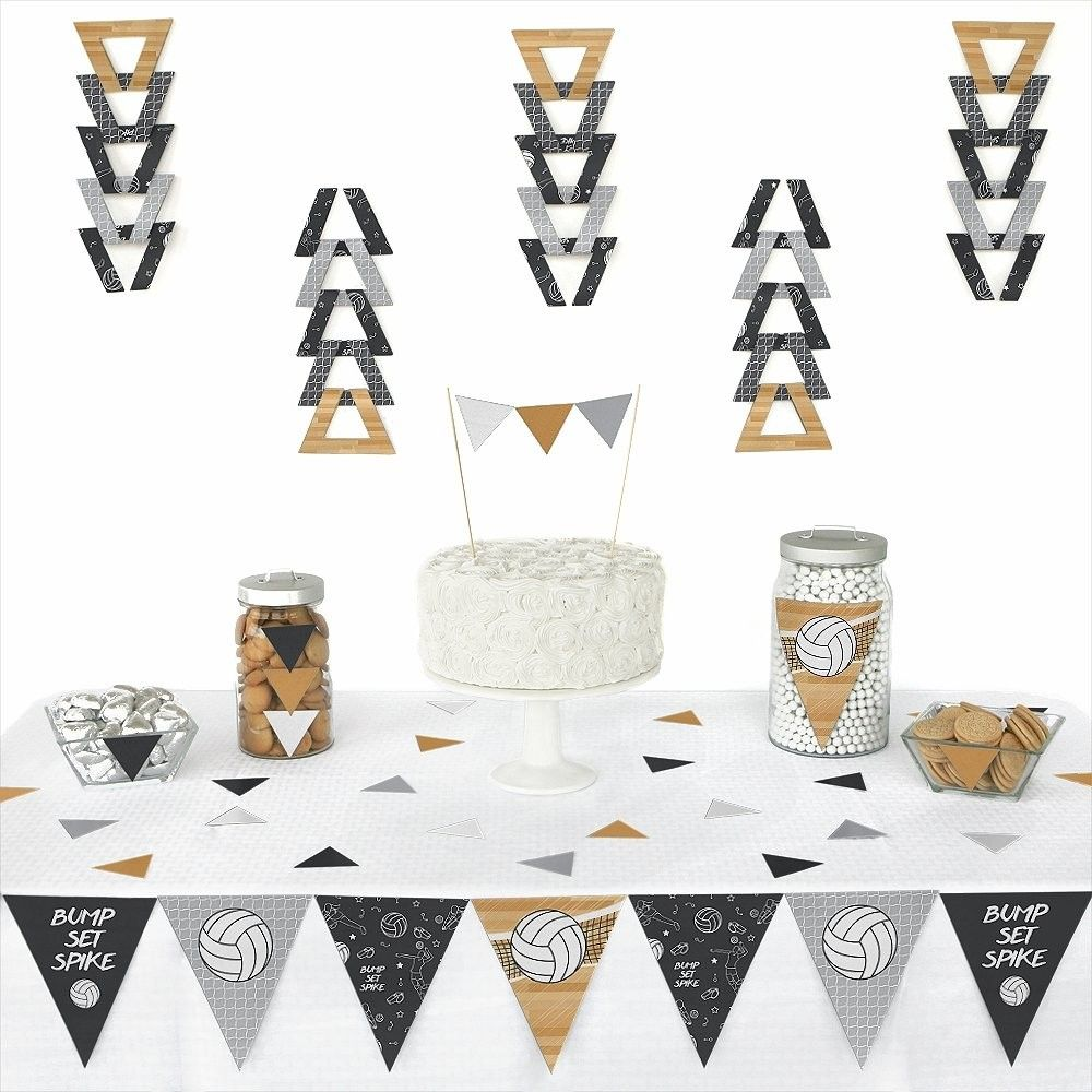 Bump Set Spike Volleyball Triangle Baby Shower Or Birthday Party Decoration Kit 72 Pieces Cx12jjvudm7 Birthday Party Decorations Party Kit Big Dot Of Happiness