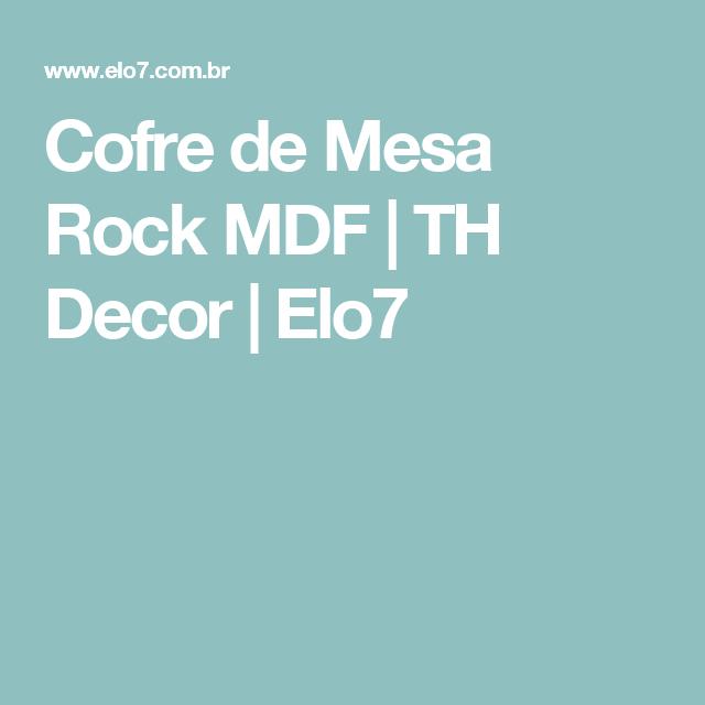 Cofre de Mesa Rock MDF | TH Decor | Elo7