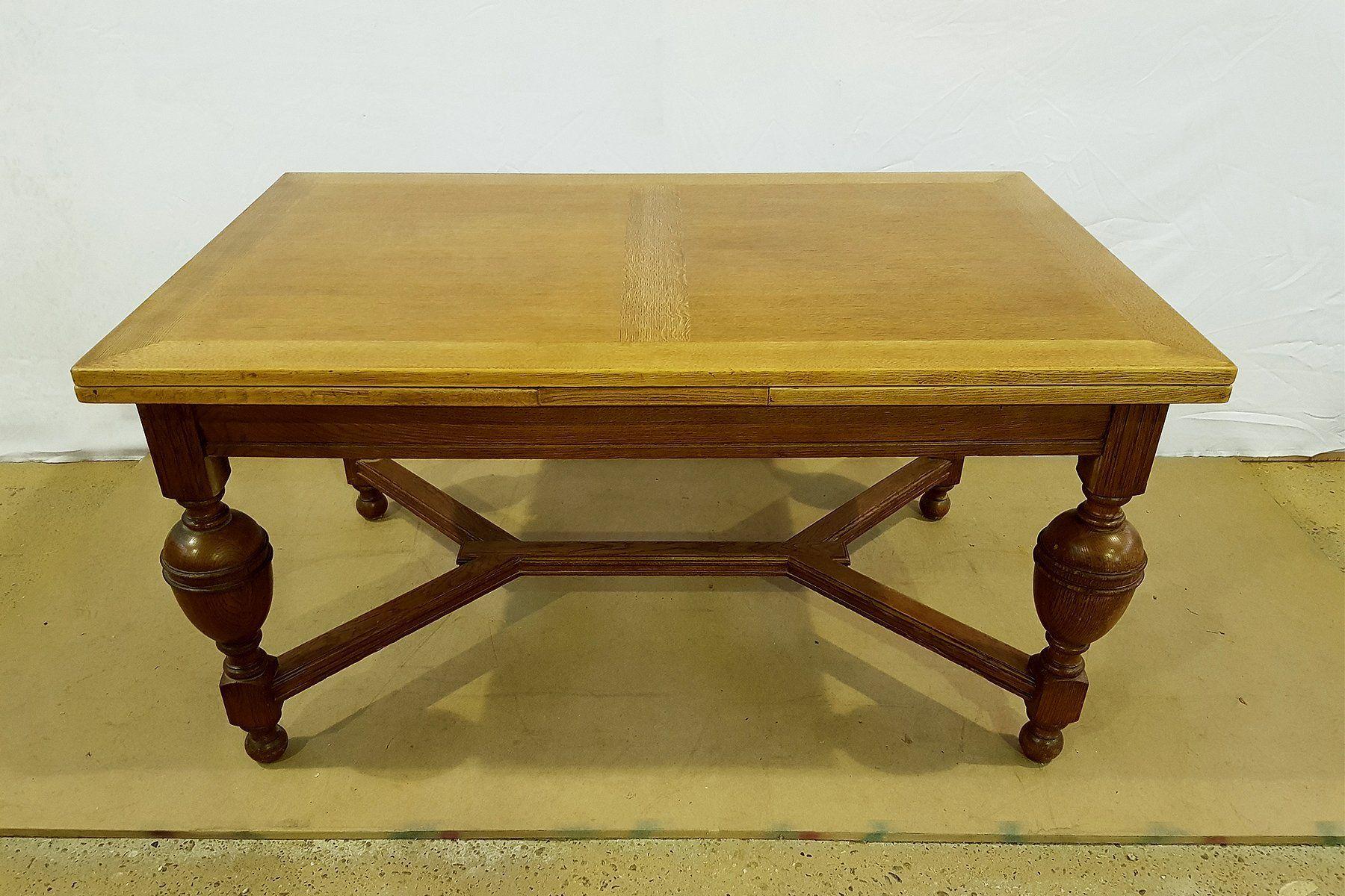 antique french tiger oak 2 leaf extending x stretcher dining table rh pinterest com