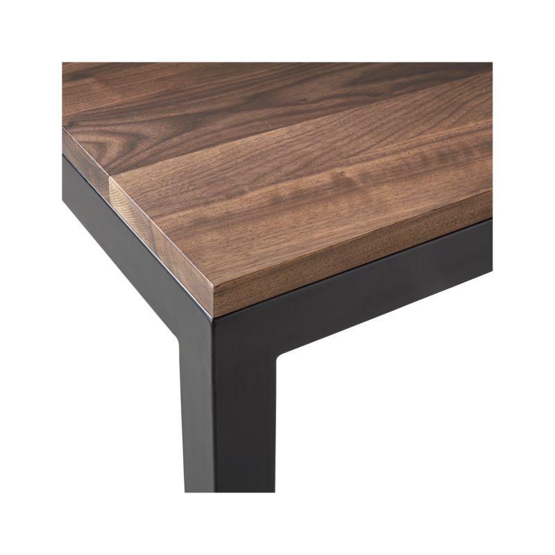 Parsons Walnut Top Dark Steel Base 36x36 Square Coffee Table