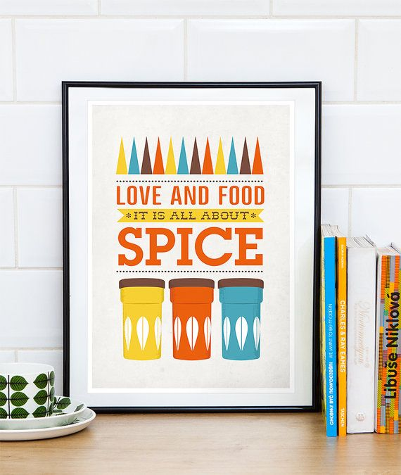 Kitchen Art, Cathrineholm Poster, Mid Century Modern, Quote Print, Kitchen  Poster,