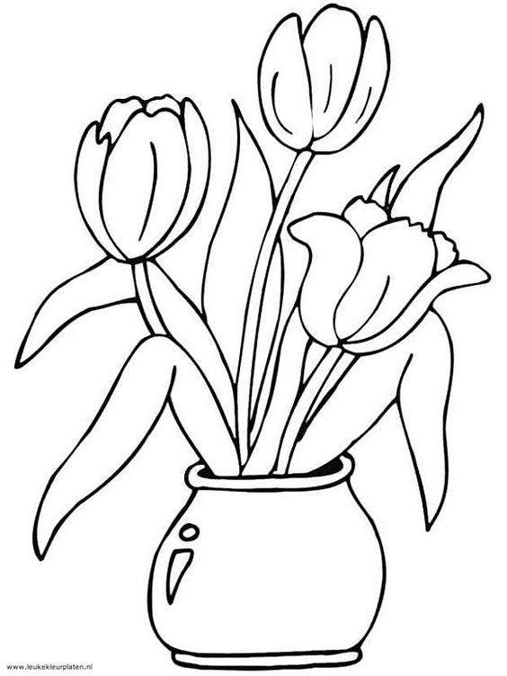 lente knutsels deel 3 kleurplaten kleurplaten bloem
