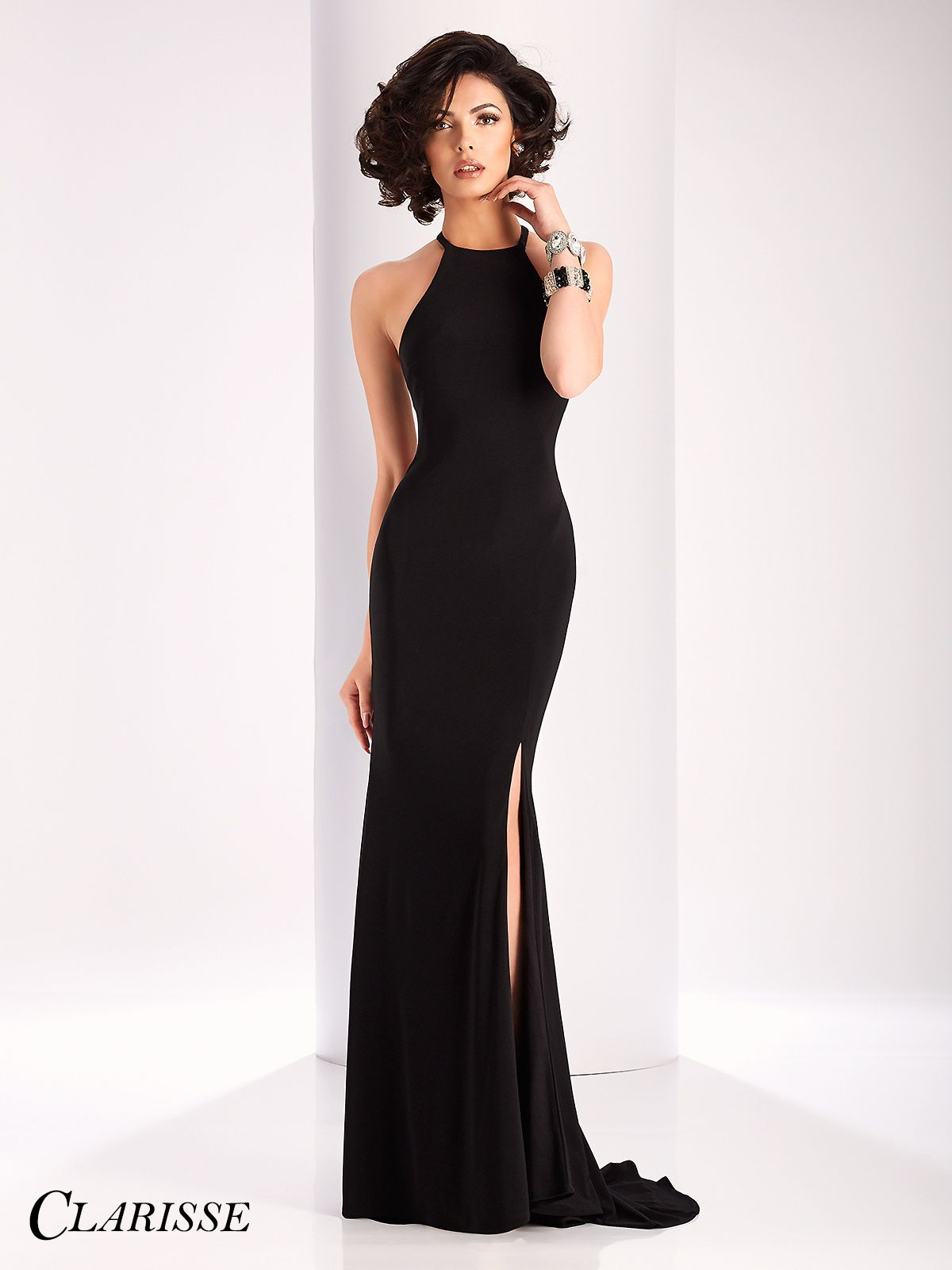 Short little black party dress with back cut outs - Clarisse Chic Cut Out Back Prom Dress 3106
