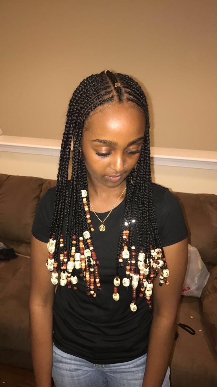 Tribal Braids Drenextdoor Braids With Beads Black
