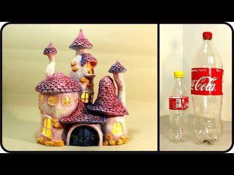 ❣DIY Enchanted Fairy House Lamp Using Coke Plastic Bottles ...
