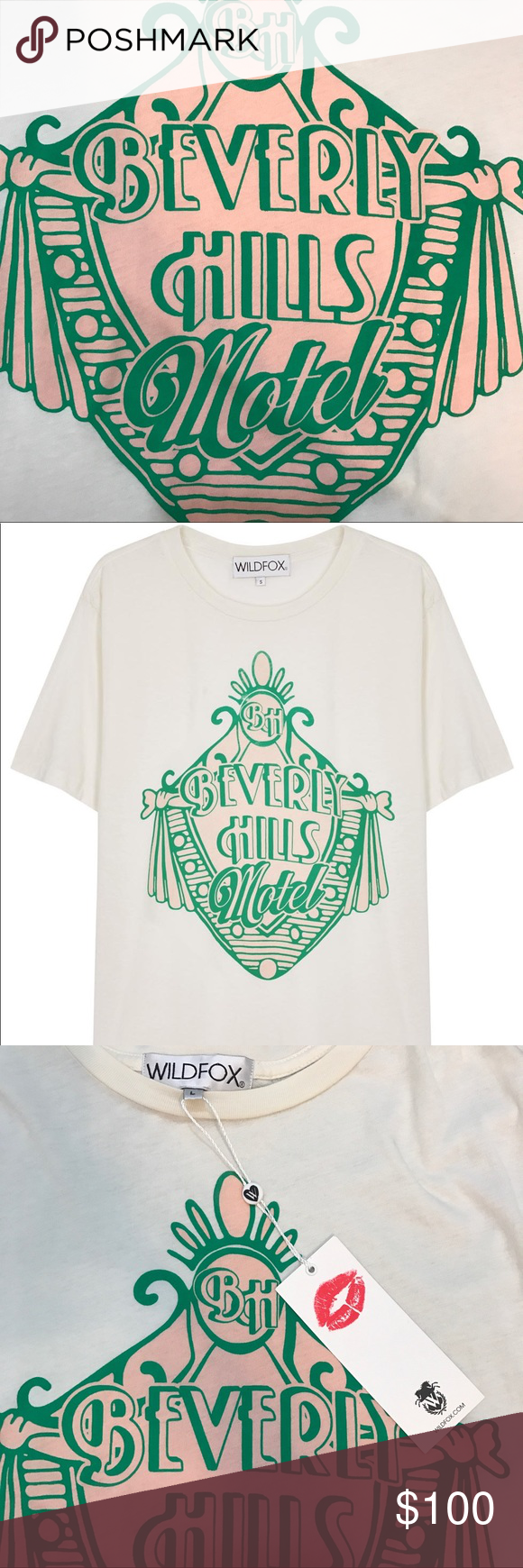 Wildfox Bh Shirt Brand New With Tags Attached Beverly Hills Hotel Tee Rare And