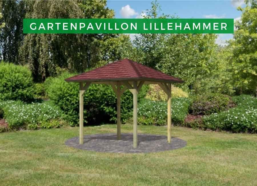 Karibu Gartenpavillon Lillehammer Ka1 Garten Pavillon Holz Pavillon Holzpavillon
