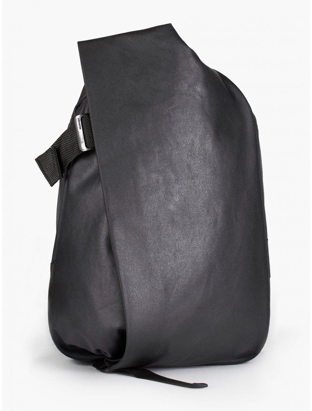Cote et Ciel Men's Black Coated Canvas Isar Backpack | oki-ni