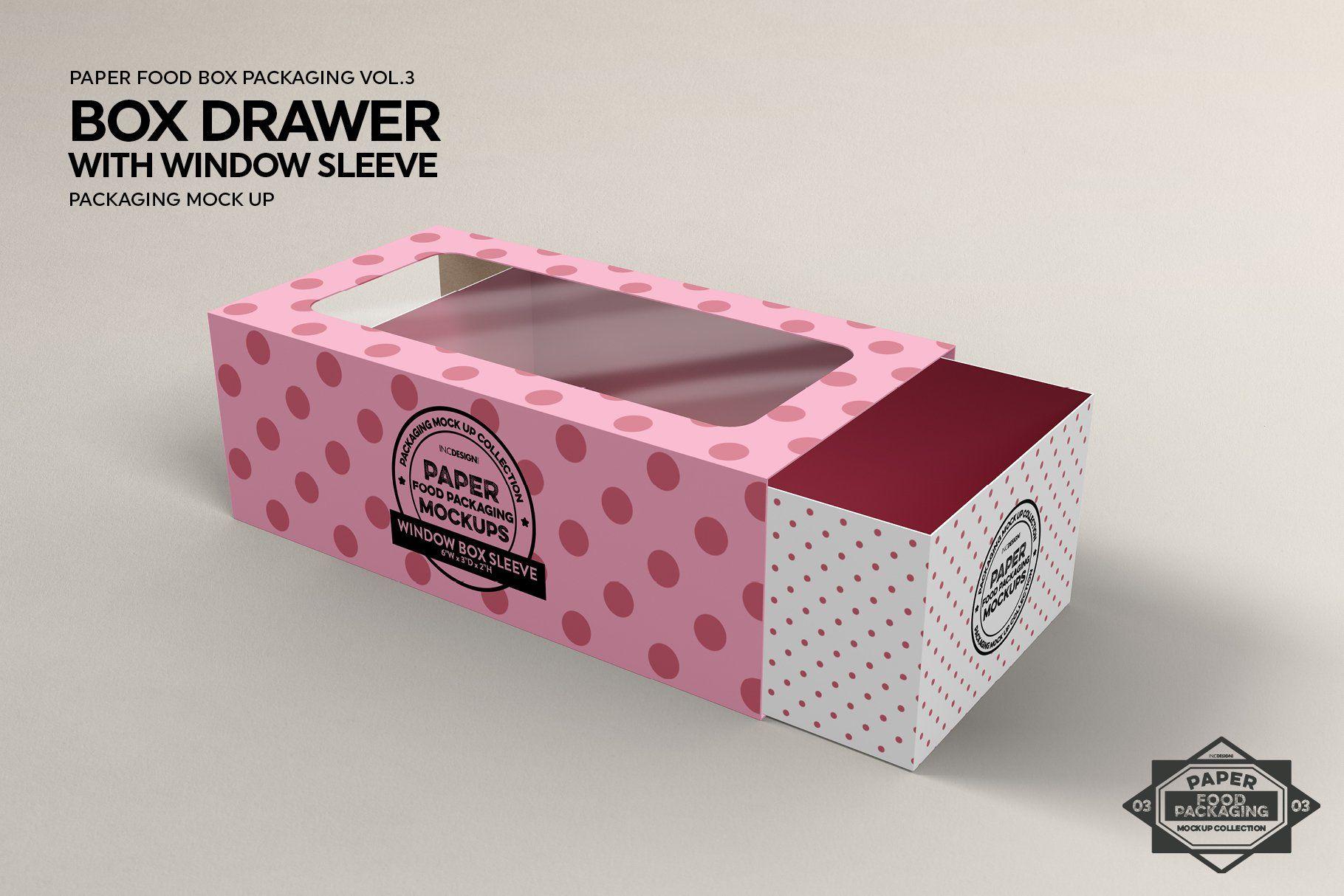 Download Box Window Sleeve Packaging Mockup Packaging Mockup Free Packaging Mockup Food Box Packaging