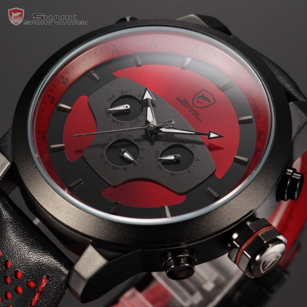 wrist on men officer in watch quartz army military mens red item sports watches force from sport fashion luxury racing