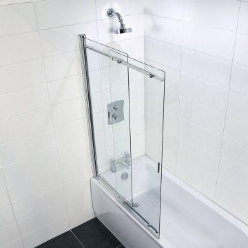 Coram Frameless Sliding Bath Screen Bath Shower Screens Bath Screens Shower Screen