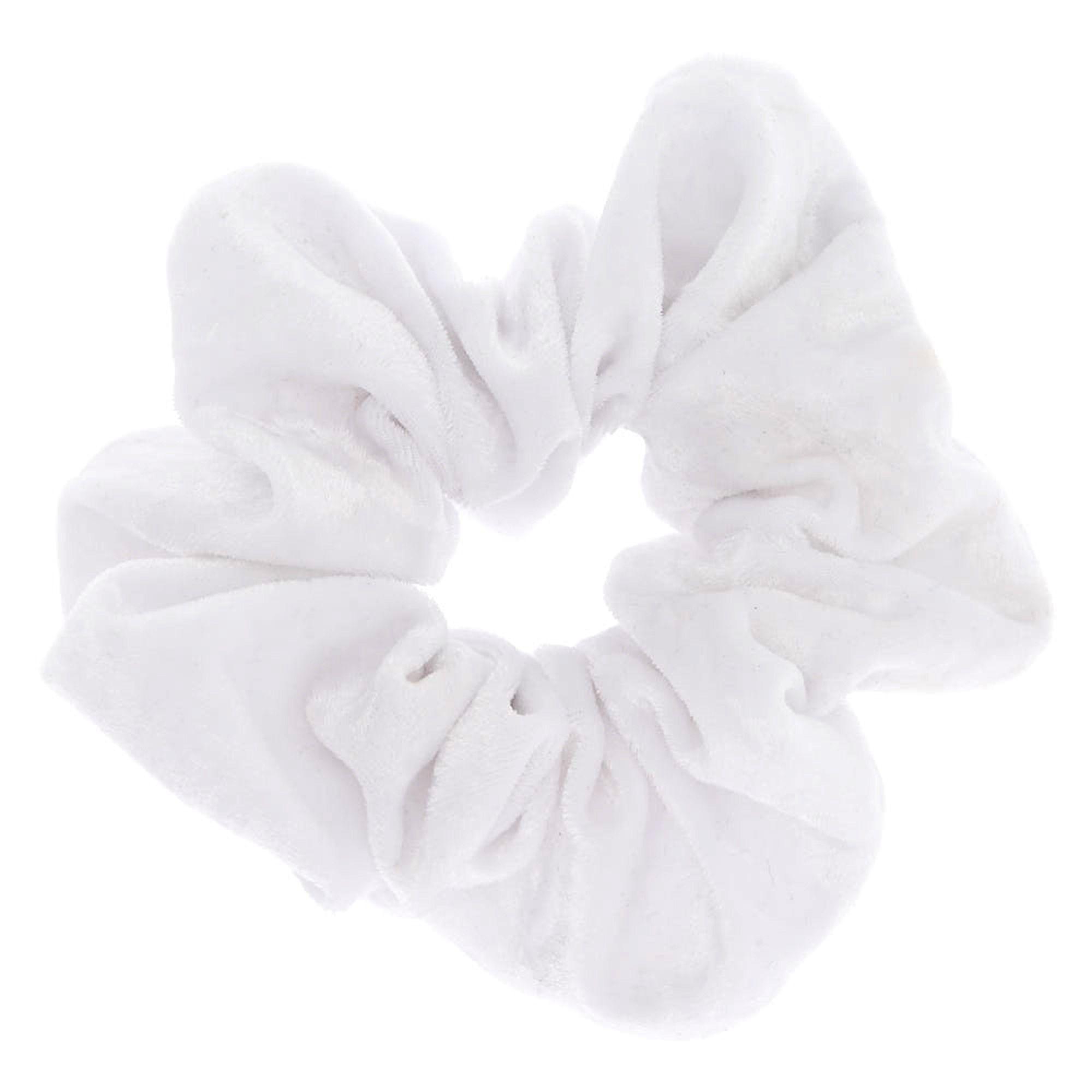 Velvet Hair Scrunchie - White #hairscrunchie