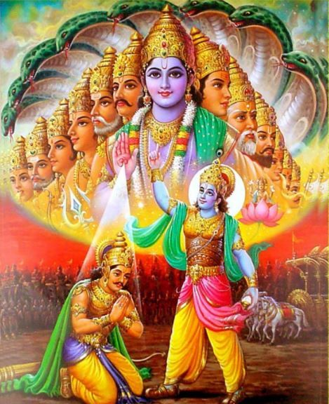 Hd Wallpapers Of Biswaroop Of Lord Krishna Or Lord Vishnu With