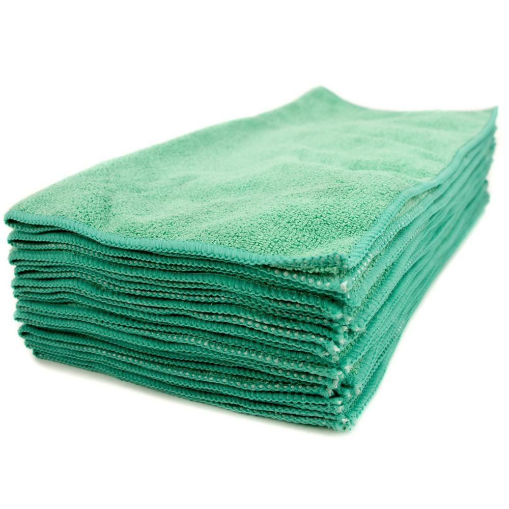 Renown 12 In X 12 In General Purpose Microfiber Cleaning Cloth Green 12 Pack Ren01212 Grz The Home Depot Clean Microfiber Microfiber Cloth Microfiber