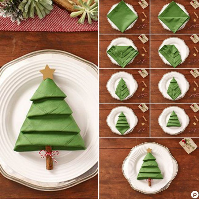 17 Best Christmas Table Decorations #napkinfoldingideas