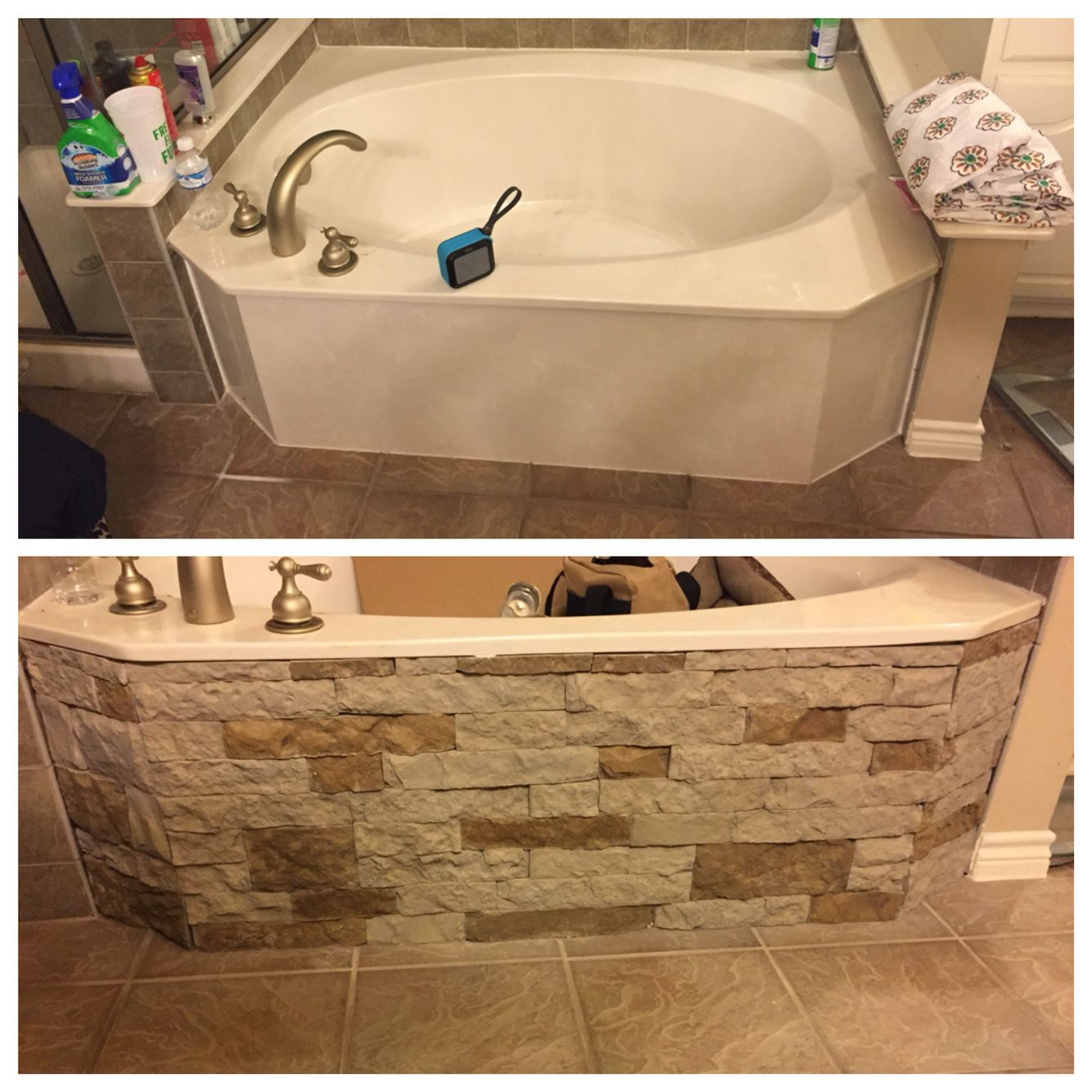 My bathtub remodel with Airstone! | Household changes/remodels ...