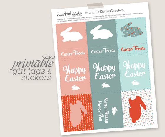 Free printable easter gift tags and stickers easter free free printable easter gift tags and stickers negle Images