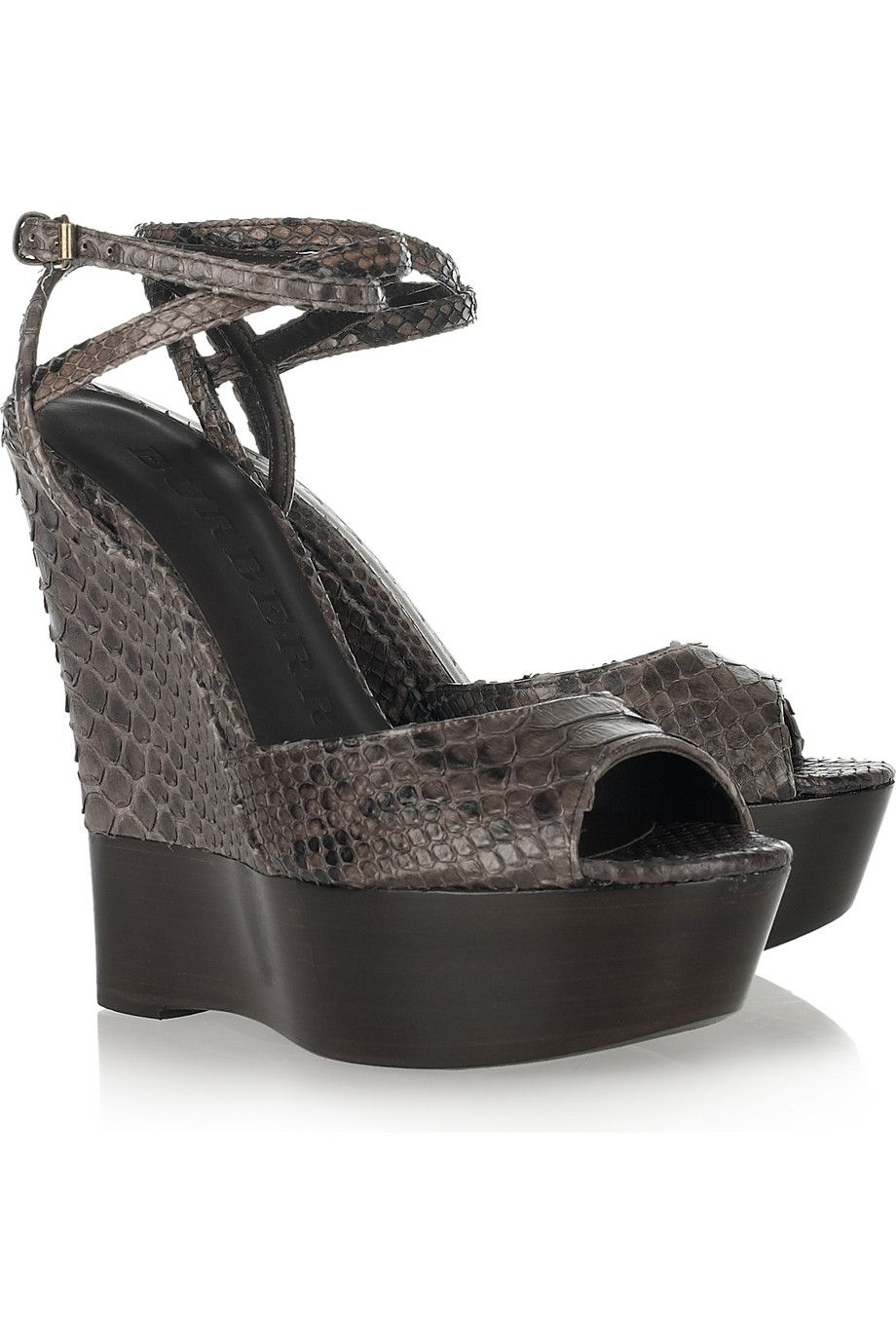 3b327c566ed Discount designer clothes for women sale. Python wedge sandals by Burberry