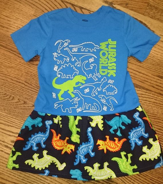 Check out this item in my Etsy shop https://www.etsy.com/listing/237236085/blue-toddler-girls-jurassic-world-t-rex
