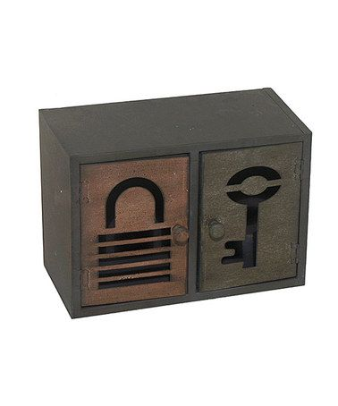 Take a look at this Two-Door Key Box by Three Hands Corporation on #zulily today!