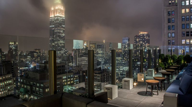 Located On The Thirtieth Floor The Skylark Gives Guests With Panoramic Views Of The Hudson River Hudson Yards Times Rooftop Bars Nyc Nyc Rooftop Rooftop Bar