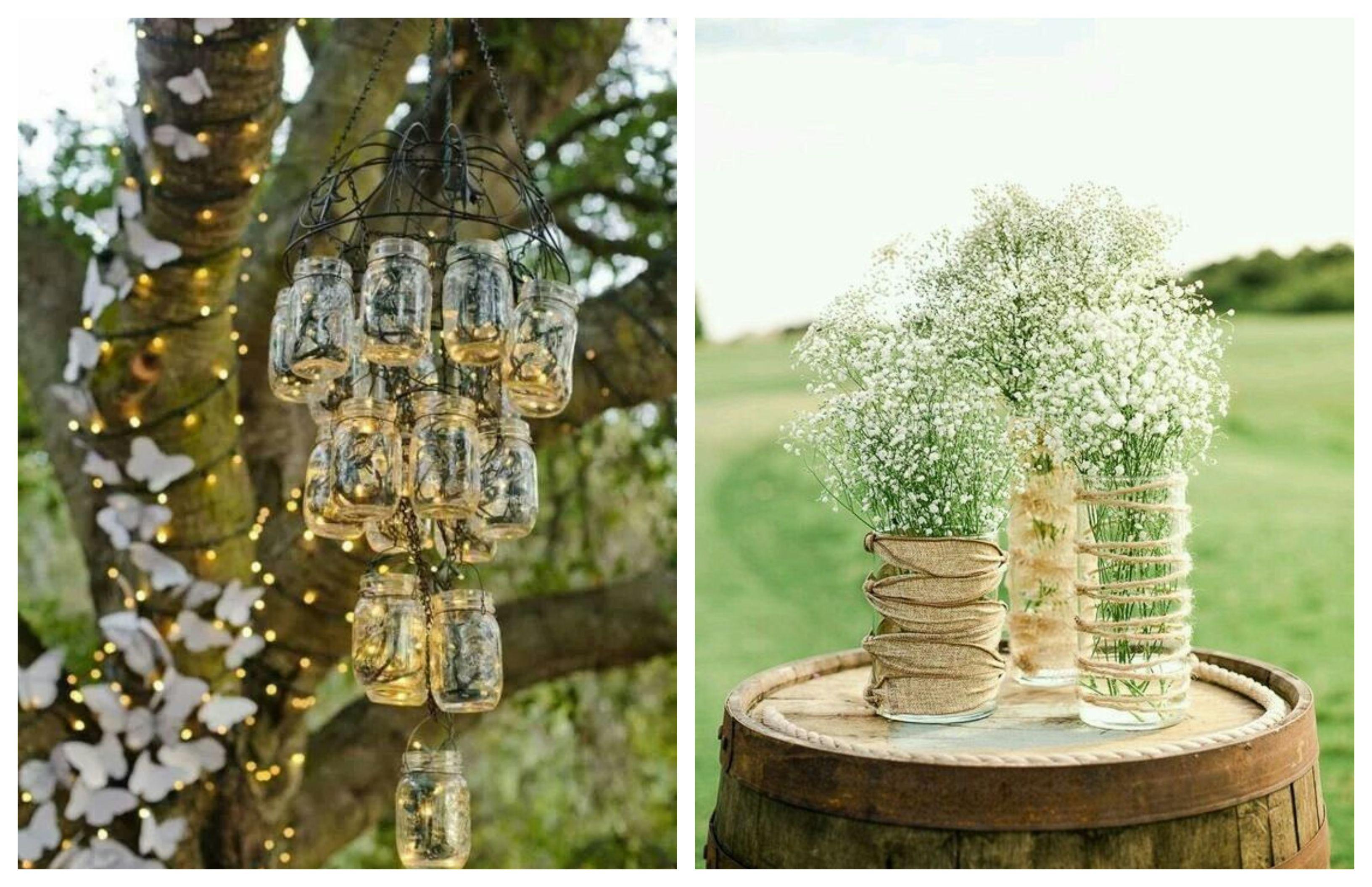 Upcycled Event Decor – Jars