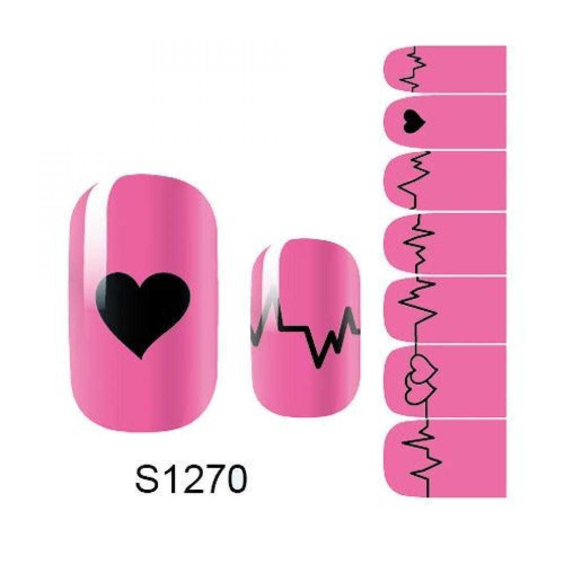 1 Pack Significant 3D Decals Manicure Foils Glitter Nail Art Stickers Style Code S1270 * Want additional info? Click on the image.