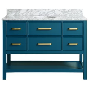 Kendall Blue Bathroom Vanity Transitional Bathroom Vanities And Sink Consoles By Houzz Blue Bathroom Vanity Contemporary Bathroom Vanity Blue Vanity