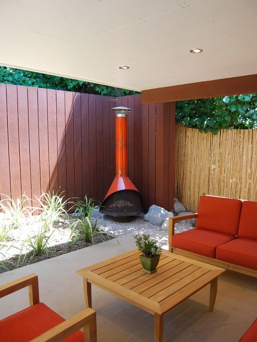 21 Stunning Midcentury Patio Designs For Outdoor Spaces Modern Outdoor Fireplace Modern Patio Design Outdoor Fireplace Designs