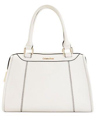 White-hot! Calvin Klein Saffiano Satchel #handbag #purse BUY NOW!