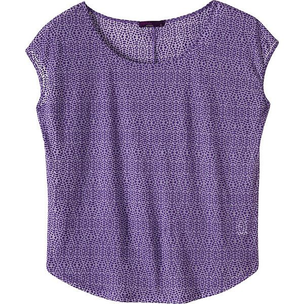 Prana Tandi Top (€30) ❤ liked on Polyvore featuring tops, purple, drop shoulder tops, prana, purple top, burnout top and burn out tops