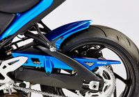 Blue metalic rear fender with chain guard