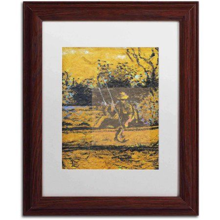 Trademark Fine Art Catch of the Day Canvas Art by Lowell S.V. Devin, White Matte, Wood Frame, Size: 11 x 14, Multicolor