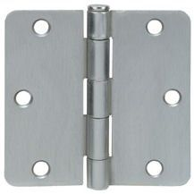 Cosmas Satin Nickel Door Hinge 3 5 Inch X 3 5 Inch With 1 4 Inch Radius Corners By Cosmas 1 39 Door Hinges Hinges Home Hardware