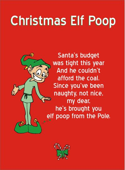 Printable elf poop poem attach it to a sandwich bag filled with printable elf poop poem attach it to a sandwich bag filled with red and green m and youve got a cheap and easy gag gift spiritdancerdesigns Images