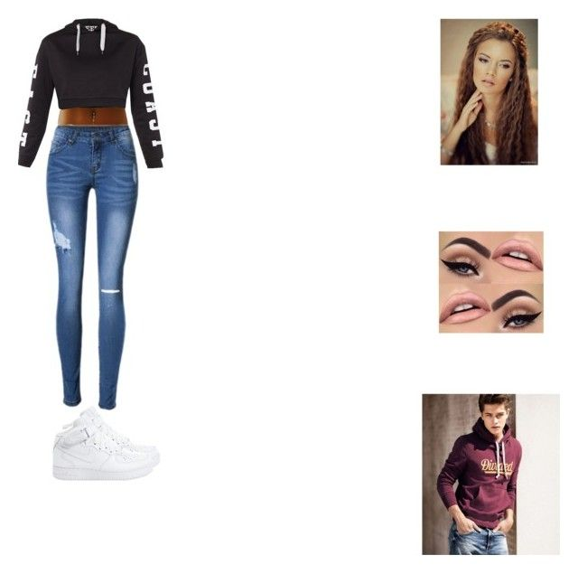 """""""Untitled #297"""" by selena-123 on Polyvore featuring Topshop, NIKE and H&M"""